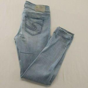Silver Suki Mid Skinny Jeans Women's 28/31